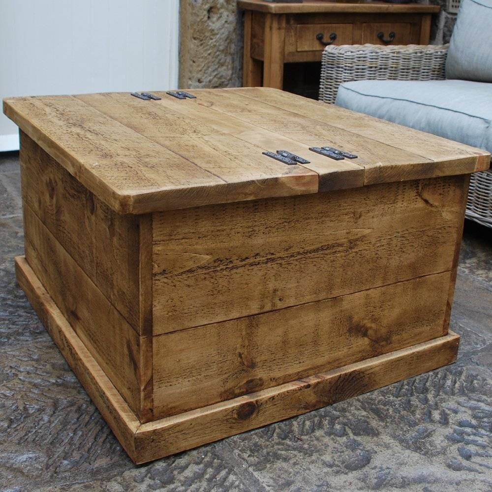 Coffee Table: New Wood Trunk Coffee Table Designs Rustic Trunk inside Square Chest Coffee Tables (Image 7 of 30)