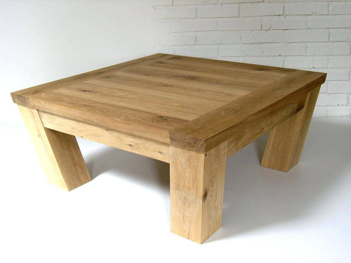Coffee Table: Oak Coffee Table Square. Oak Coffee Table Square pertaining to Bespoke Coffee Tables (Image 14 of 30)