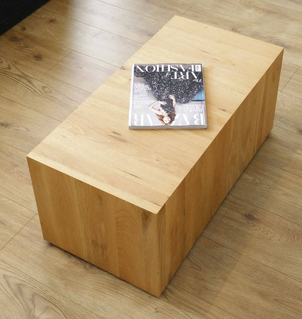 Coffee Table On Wheels Solid. Furniture Natural Solid Rustic with Chunky Oak Coffee Tables (Image 12 of 30)