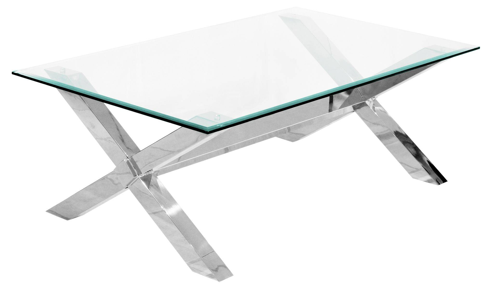 Coffee Table: Outstanding Glass And Chrome Coffee Table Designs for Rectangle Glass Chrome Coffee Tables (Image 16 of 30)
