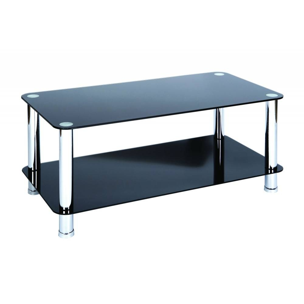 Coffee Table: Outstanding Glass And Chrome Coffee Table Designs intended for Rectangle Glass Chrome Coffee Tables (Image 17 of 30)