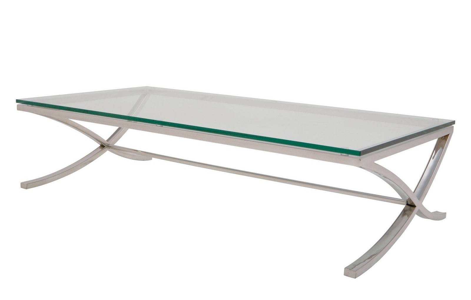 Coffee Table: Outstanding Glass And Chrome Coffee Table Designs pertaining to Rectangle Glass Chrome Coffee Tables (Image 18 of 30)