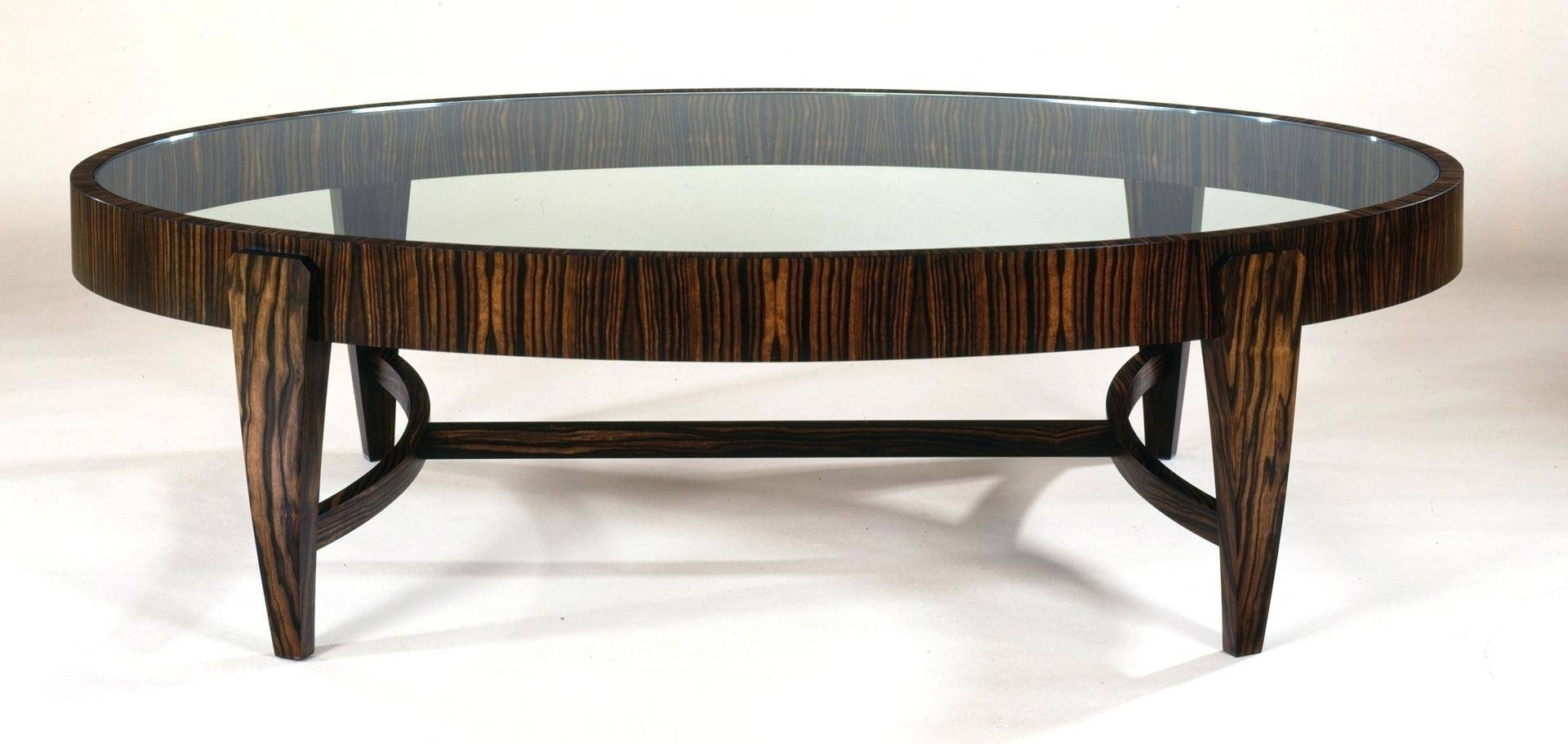 Coffee Table ~ Oval Glass Coffee Tableglass Table Modern throughout Retro Glass Coffee Tables (Image 13 of 30)