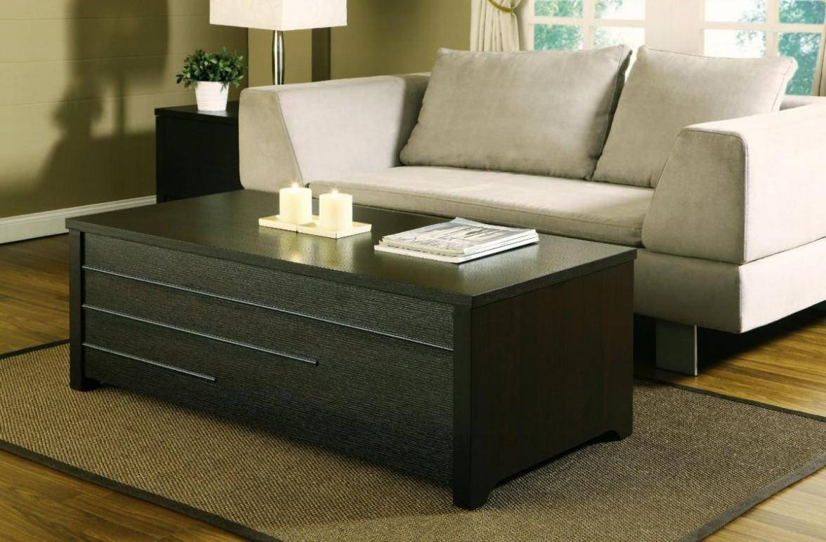 Coffee Table: Perfect Coffee Table With Storage Decor Storage with regard to Black Coffee Tables With Storage (Image 14 of 30)