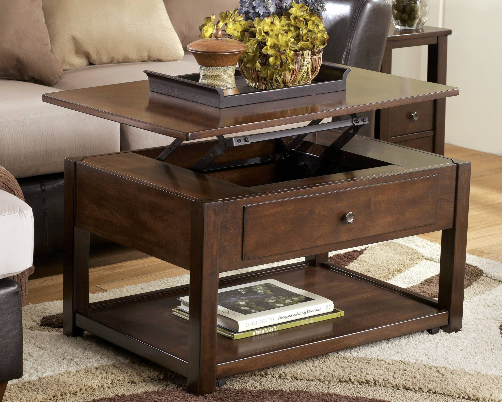 Coffee Table: Perfect Small Lift Top Coffee Table Ideas Lift Top within Round Coffee Tables With Drawers (Image 5 of 30)