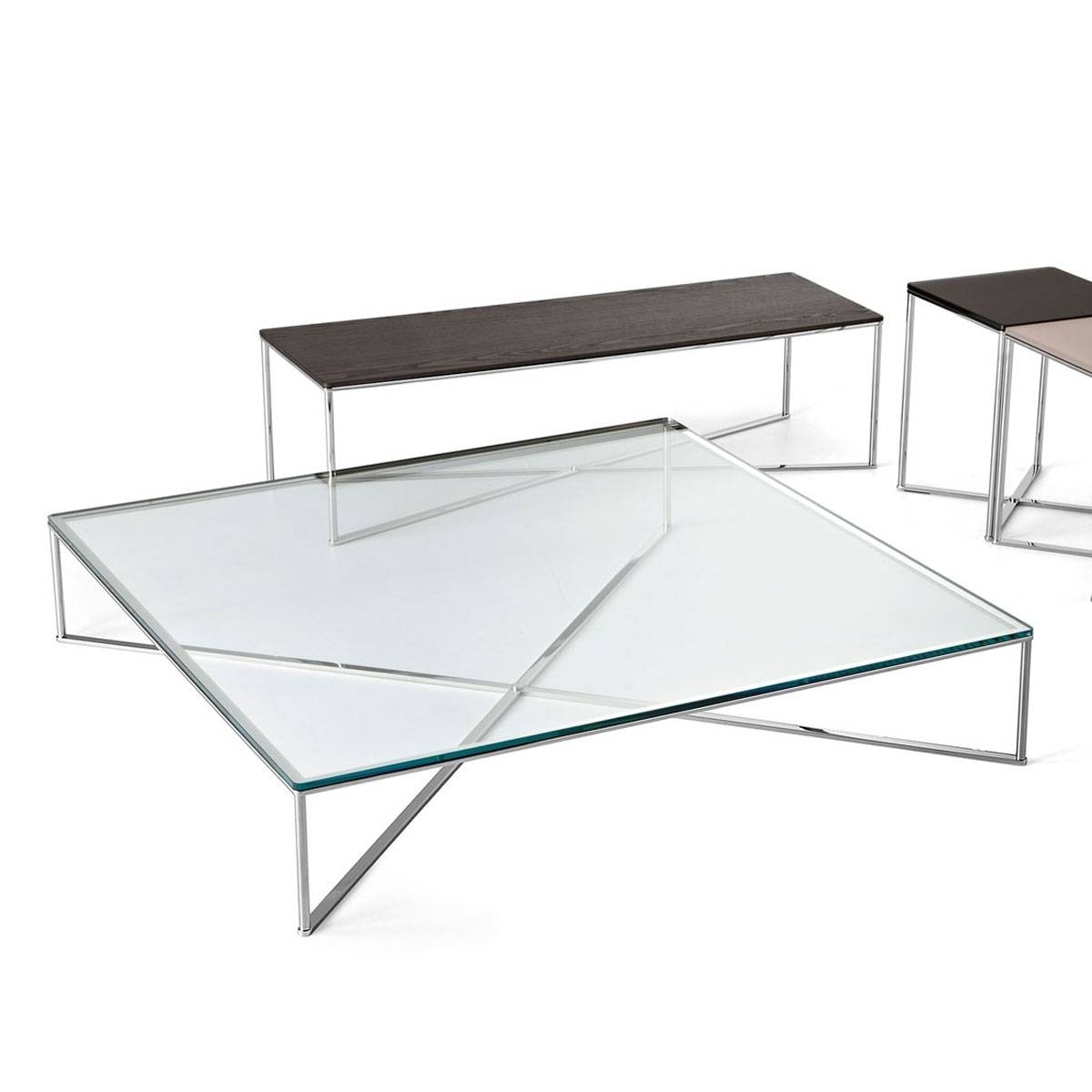 Coffee Table: Popular Metal And Glass Coffee Table Ideas Glass throughout Steel And Glass Coffee Tables (Image 10 of 30)