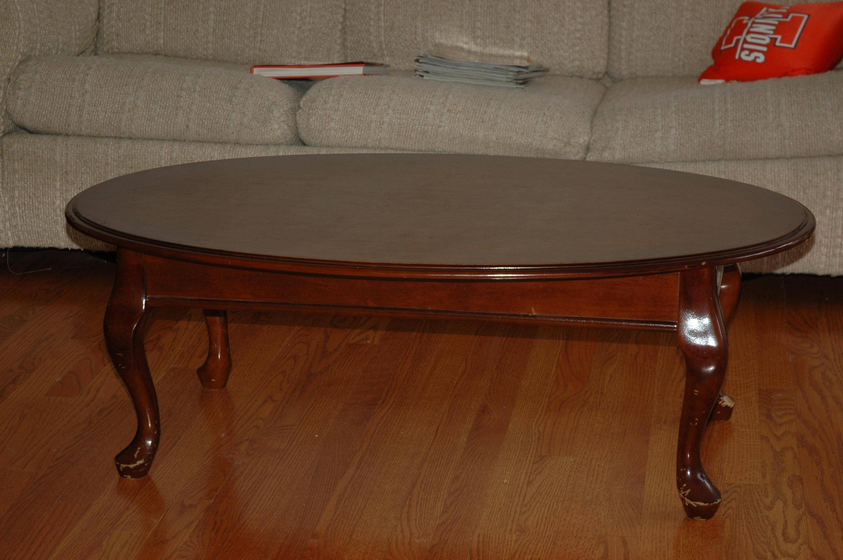 Coffee Table: Popular Oval Wood Coffee Table Designs Oval Cherry pertaining to Oval Wood Coffee Tables (Image 7 of 30)