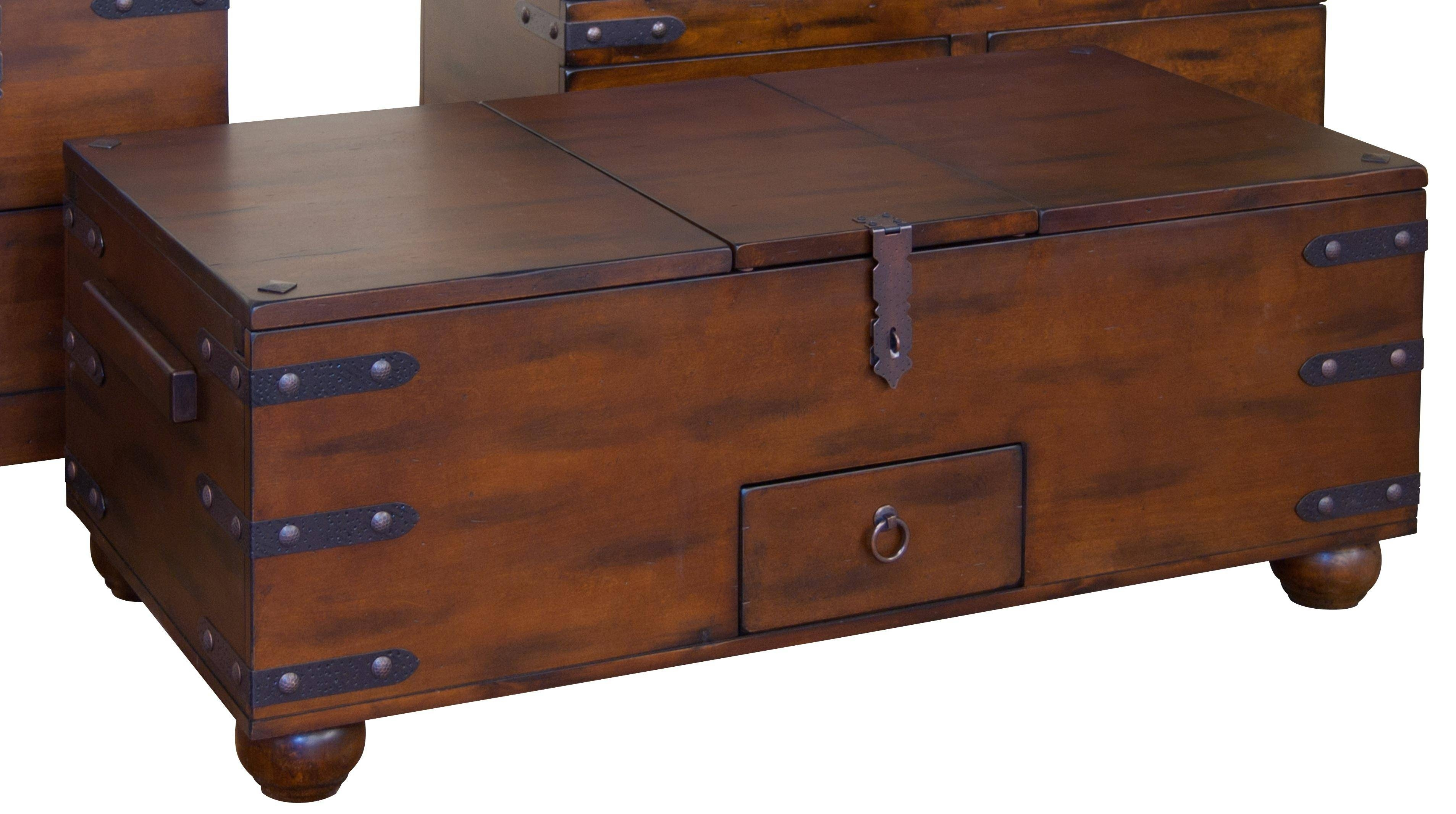 Coffee Table: Popular Storage Trunk Coffee Table Design Ideas With Dark Wood Chest Coffee Tables (View 8 of 30)