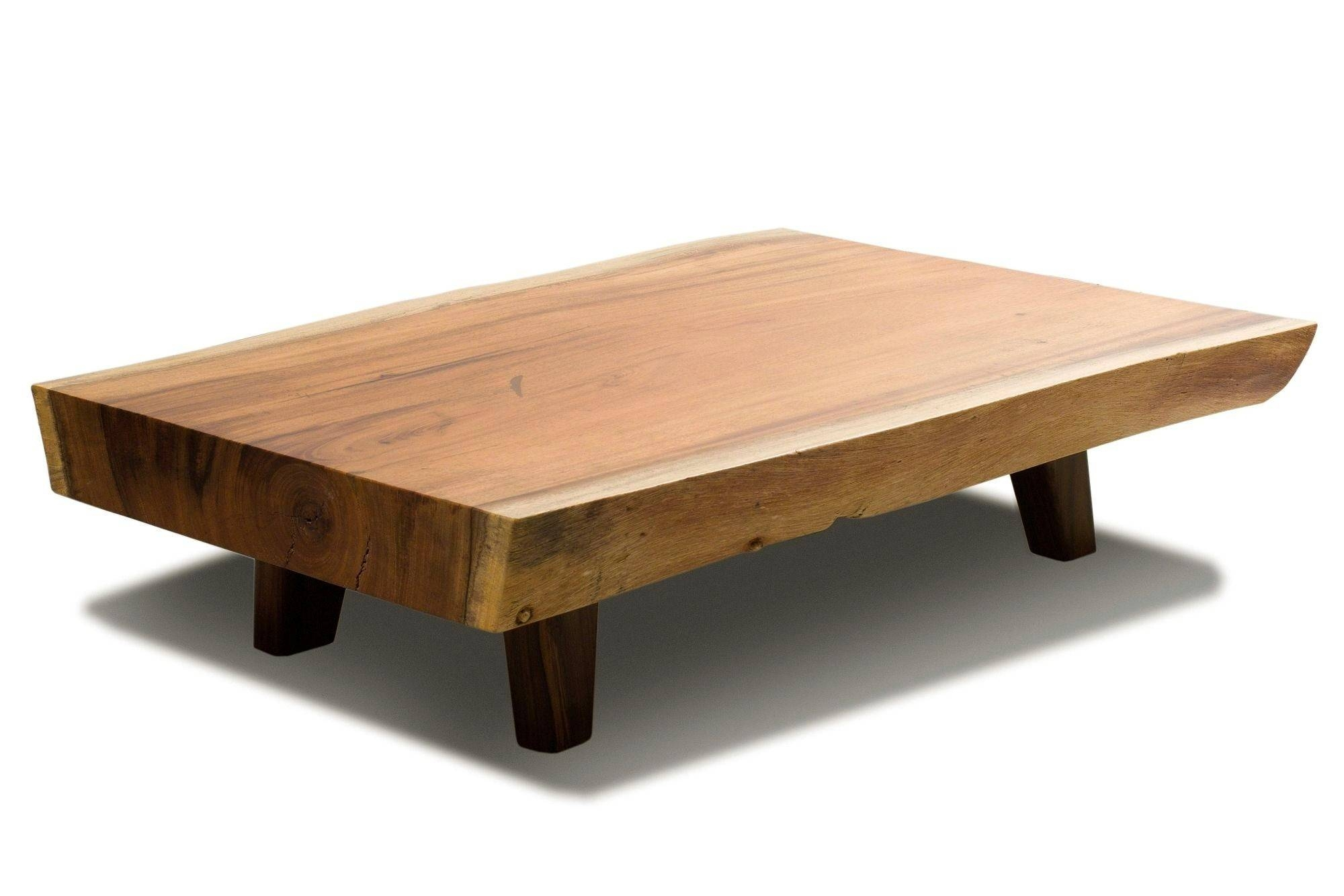 Coffee Table: Raw Wood Coffee Table Design Ideas Raw Edge Wood Within Large Low Wood Coffee Tables (View 13 of 30)