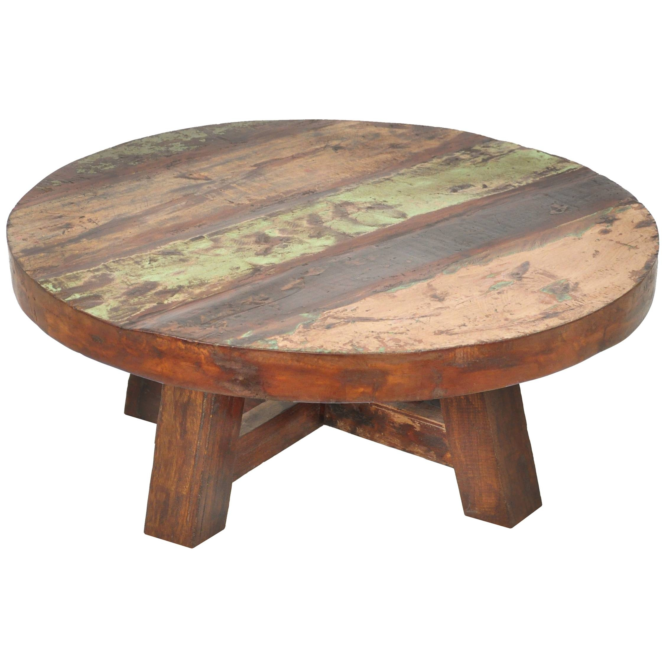 Coffee Table : Reclaimed Wood Round Coffee Table As Ikea Coffee with regard to Low Square Wooden Coffee Tables (Image 2 of 30)
