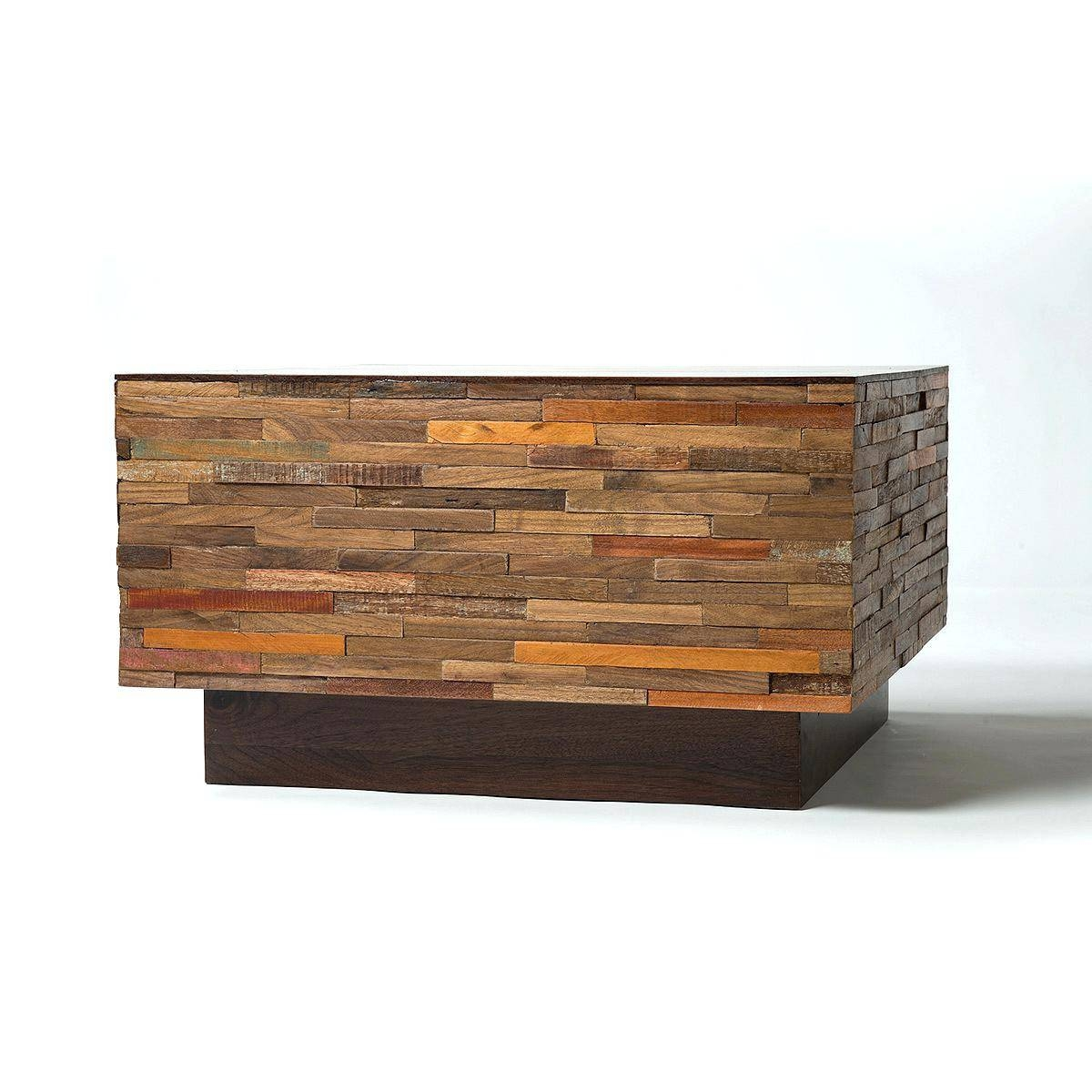 Coffee Table ~ Reclaimed Wood Square Coffee Table Modern with Big Low Coffee Tables (Image 8 of 30)