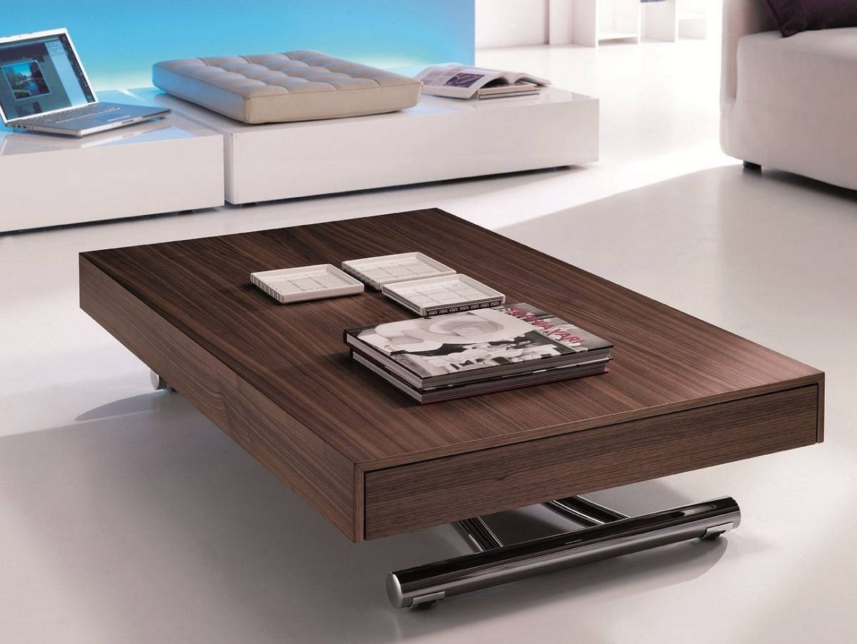 Coffee Table: Remarkable Adjustable Coffee Table Design Ideas in Raisable Coffee Tables (Image 11 of 30)