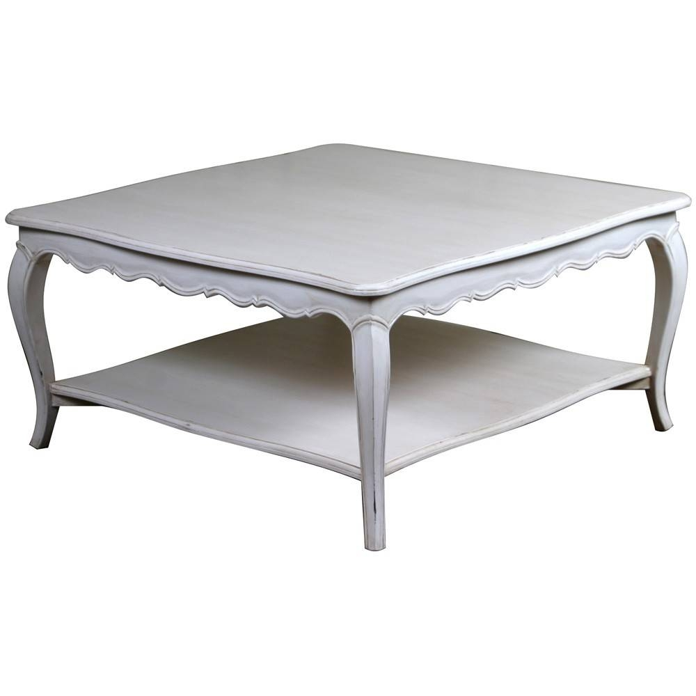 Coffee Table: Remarkable French Coffee Table Ideas Country Style in White Square Coffee Table (Image 13 of 30)