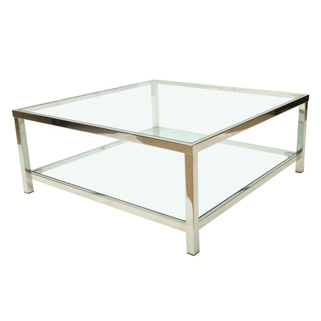 Coffee Table ~ Reserve Glass Chrome Coffee Tablewhite Gloss Table within Chrome Coffee Table Bases (Image 11 of 30)