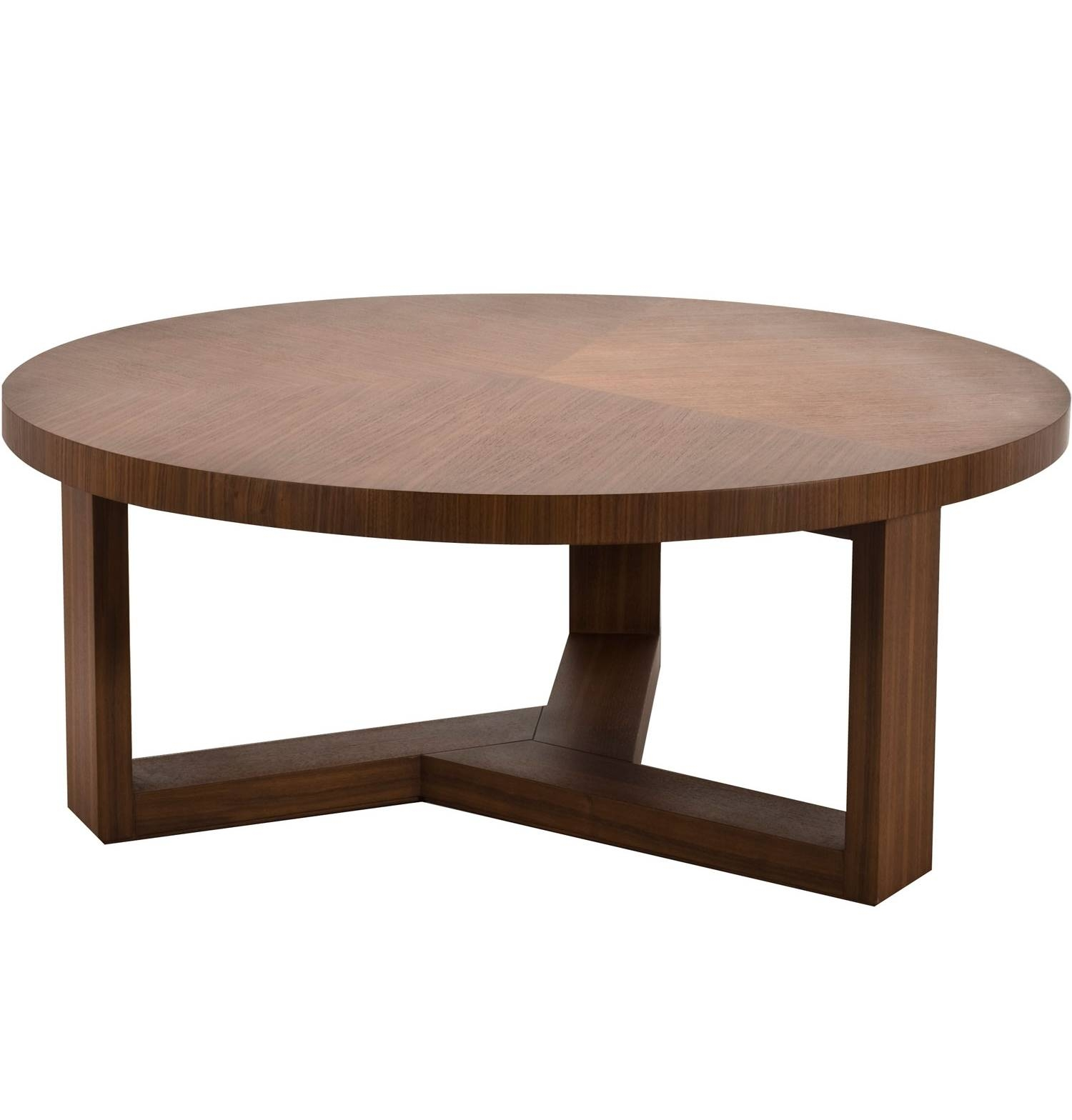Coffee Table : Round Timber Coffee Table Round Coffee Table Simple regarding Round Coffee Tables With Drawers (Image 4 of 30)
