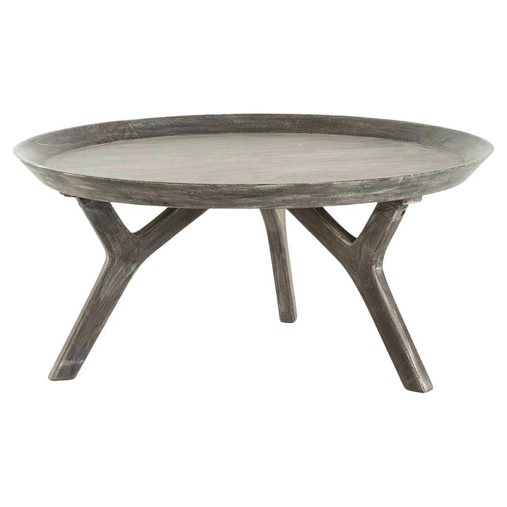 Coffee Table ~ Round Wood Coffee Table Tray Large Round Tray with regard to Round Coffee Table Trays (Image 10 of 30)