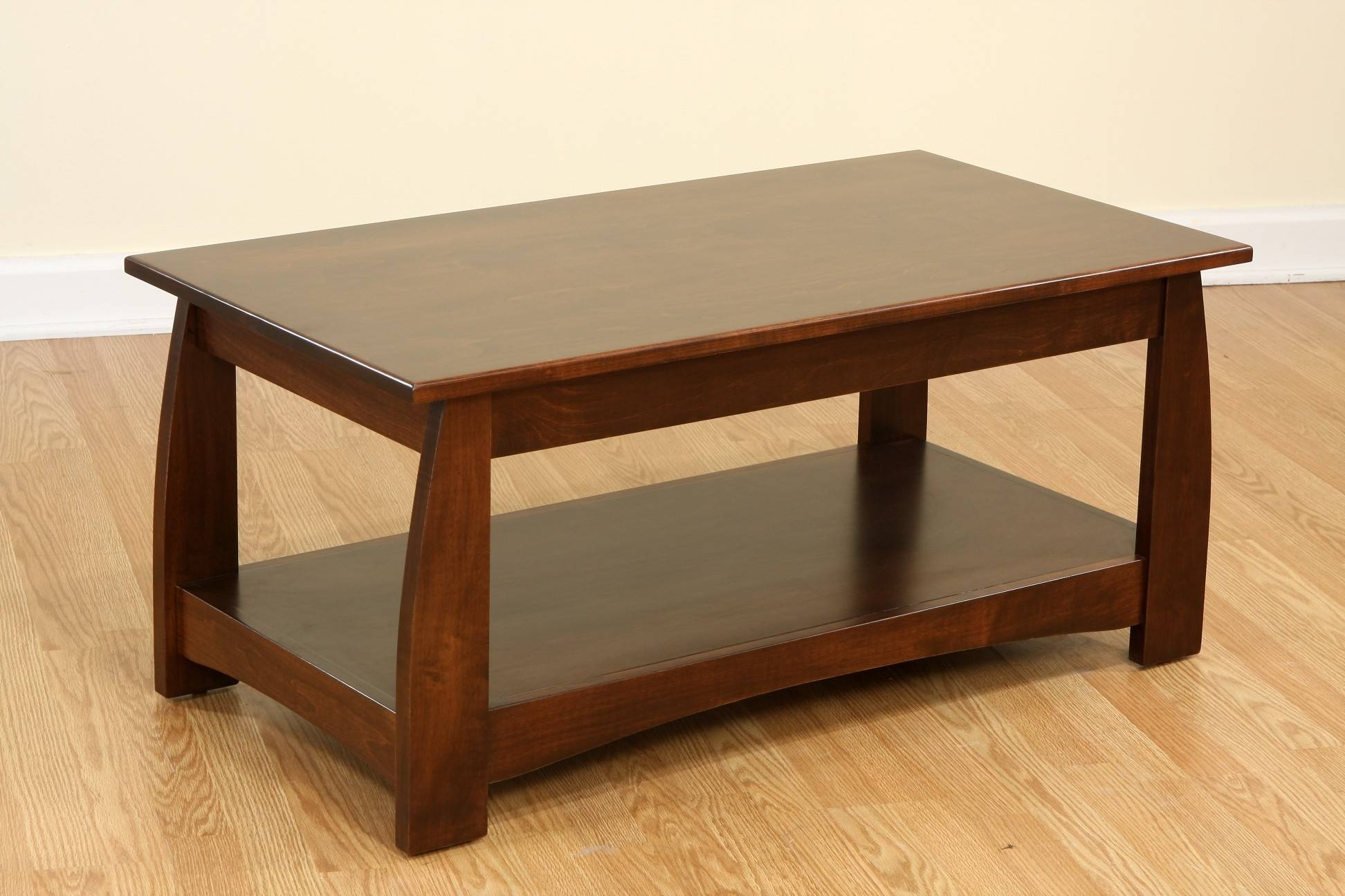 Coffee Table Round Wood Tables With Storage Solid Oak And End intended for Solid Wood Coffee Tables (Image 4 of 30)
