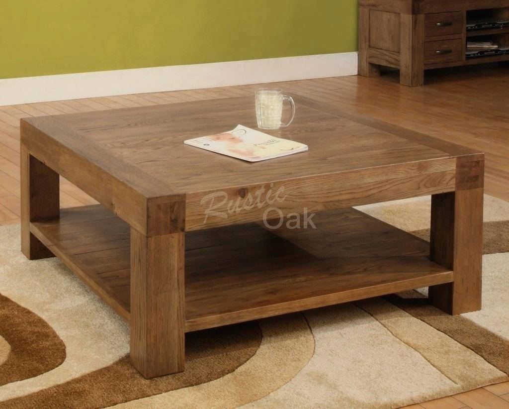 Coffee Table ~ Rustic Coffee Tables And Oversized Table48 Square Throughout Large Low Rustic Coffee Tables (View 14 of 30)
