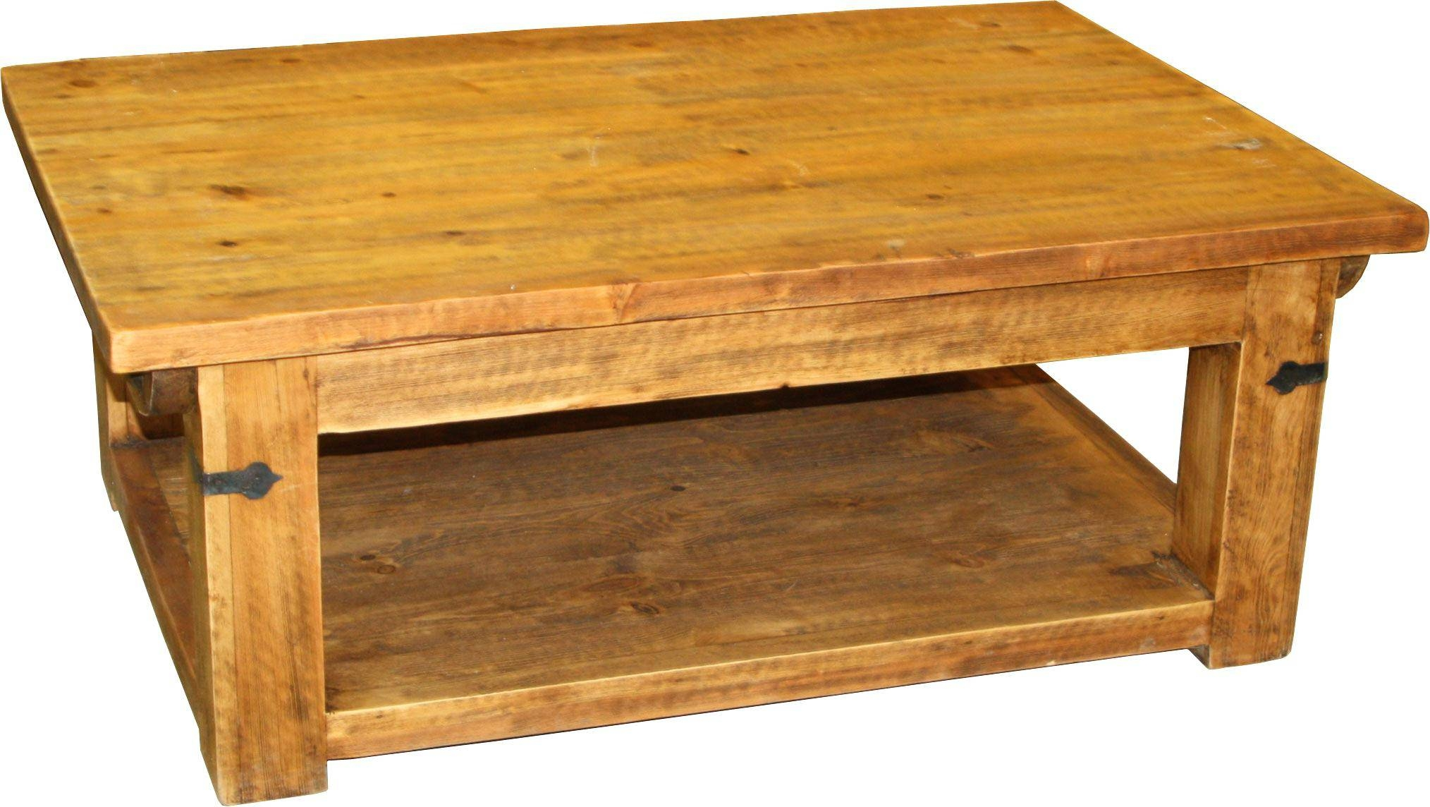 Coffee Table ~ Rustic Pine Coffee Tablesmall Table Small Round within Pine Coffee Tables (Image 5 of 30)