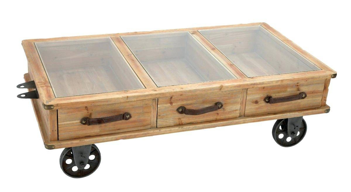 Coffee Table ~ Rustic Wood Coffee Table With Wheels Traditional Regarding Rustic  Coffee Table With Wheels