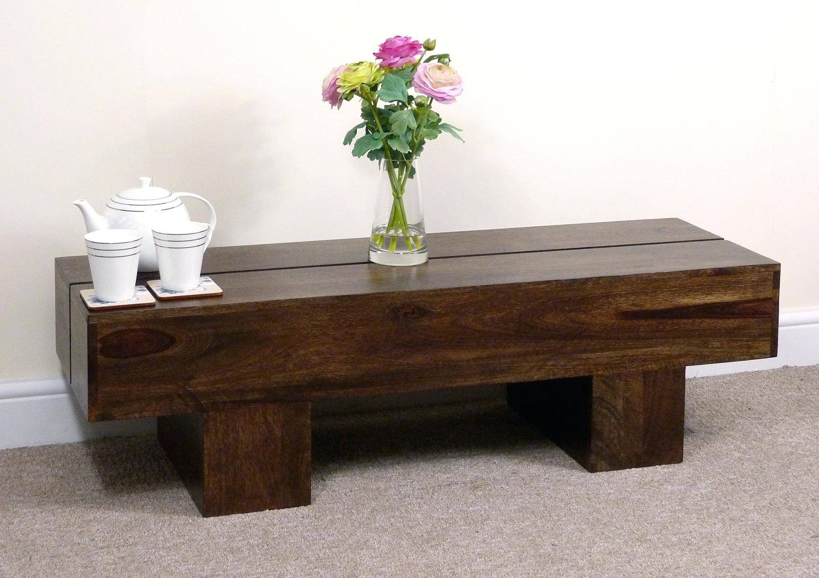 Popular Dark Oak Coffee Tables - Small dark oak coffee table