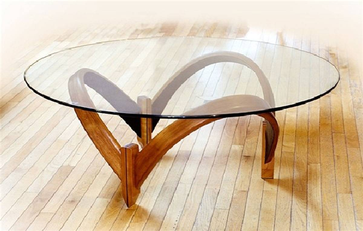 Coffee Table: Small Round Glass Coffee Table All Glass Coffee inside Round Glass And Wood Coffee Tables (Image 5 of 30)
