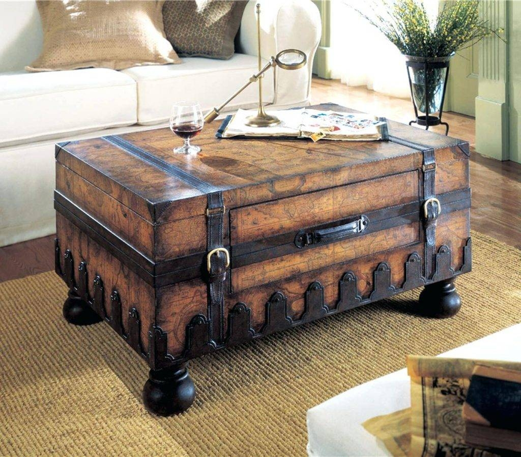 Coffee Table ~ Solid Wood Storage Trunk Decorative Trunkssquare with regard to Storage Trunk Coffee Tables (Image 3 of 30)