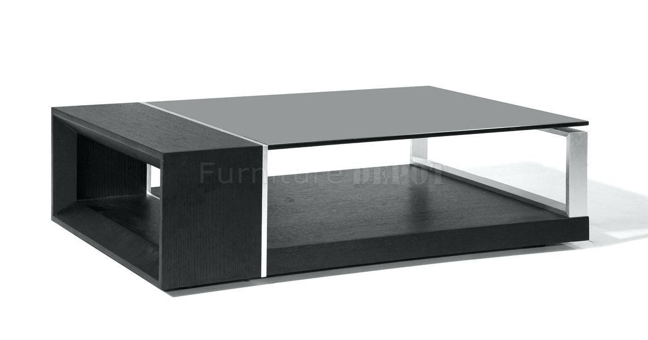 Coffee Table ~ Sophia Solid Wood Chrome And Glass High Gloss Black with regard to Glass And Black Coffee Tables (Image 7 of 30)