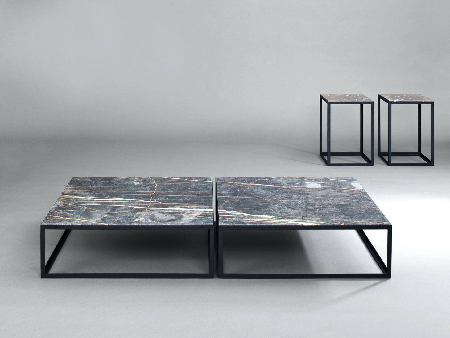 Coffee Table: Square Stone Coffee Table. Stone And Metal Square with regard to Square Stone Coffee Tables (Image 8 of 30)