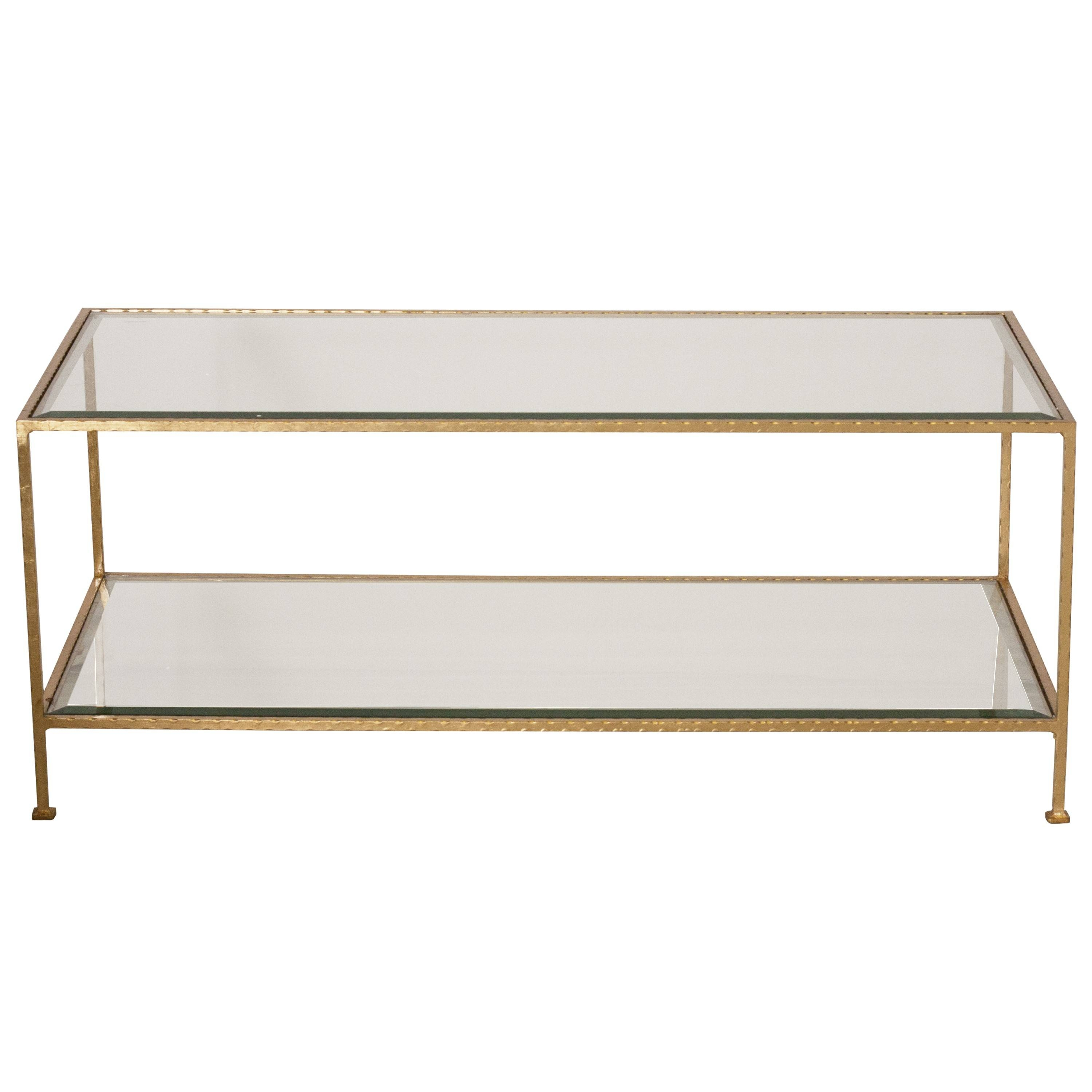 Coffee Table: Stunning Rectangular Glass Coffee Table Designs with regard to Glass Coffee Tables With Shelf (Image 11 of 30)
