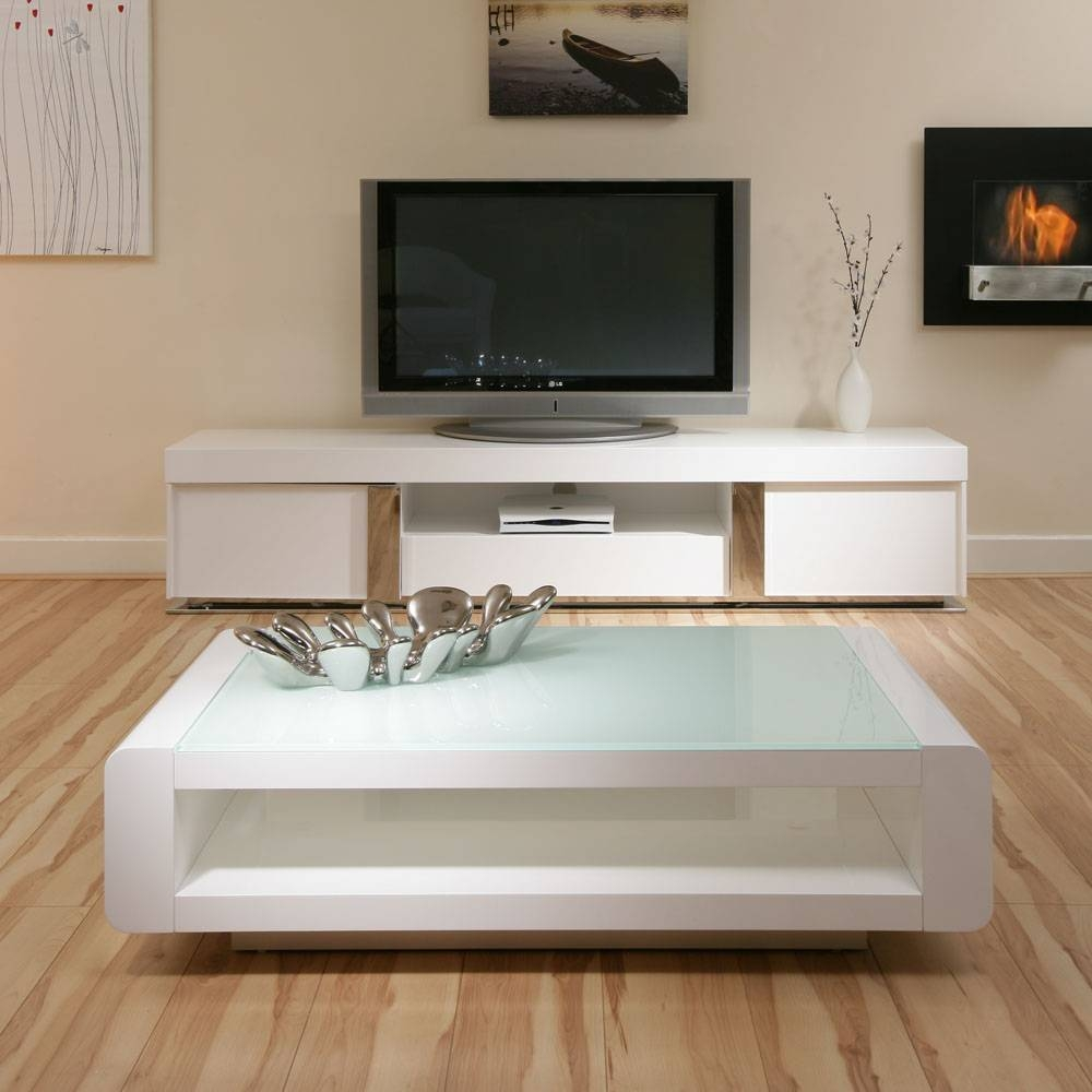 Coffee Table: Stunning White Gloss Coffee Table Designs White within White Gloss Coffee Tables (Image 9 of 30)