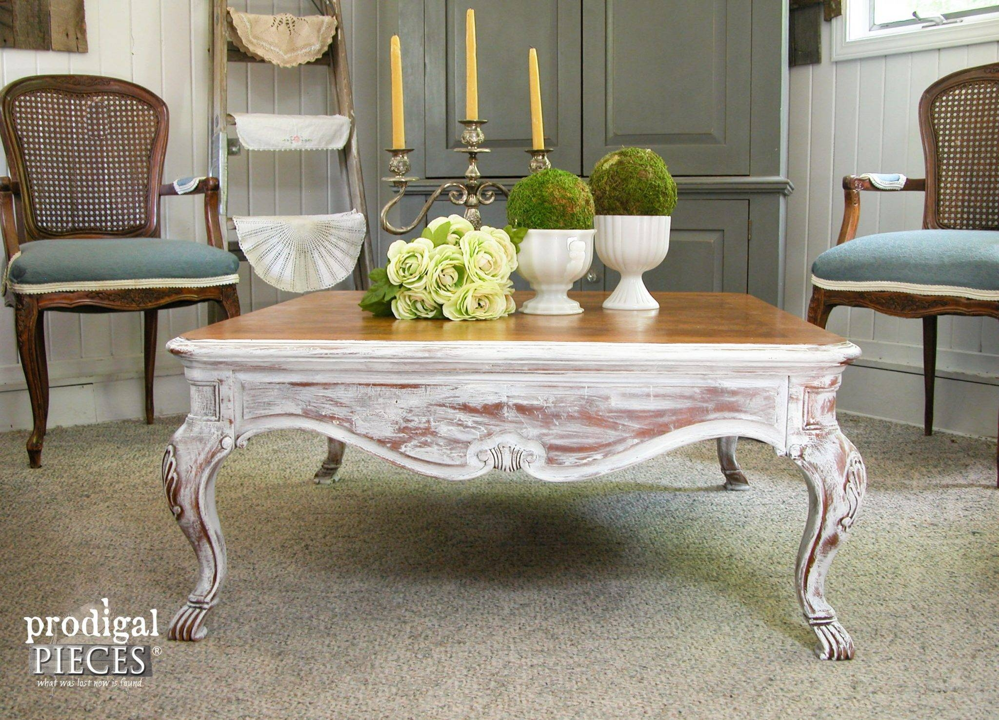 Coffee Table: Stylish French Country Coffee Table Design Ideas in White French Coffee Tables (Image 15 of 30)
