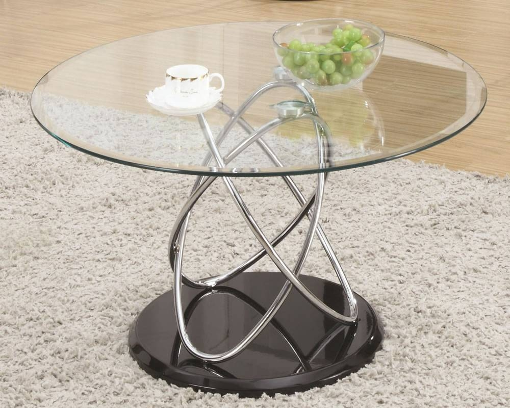 Coffee Table: Surprising Silver Glass Coffee Table Sets Round throughout Metal Coffee Tables With Glass Top (Image 9 of 31)