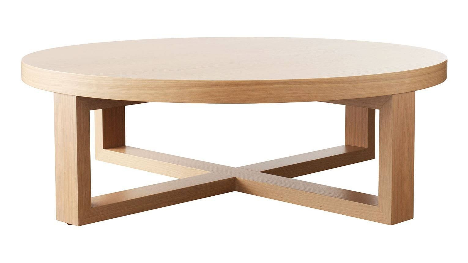 Coffee Table, Tall Solid Oak Small Round Oak Coffee Table Small with Circular Coffee Tables (Image 7 of 30)