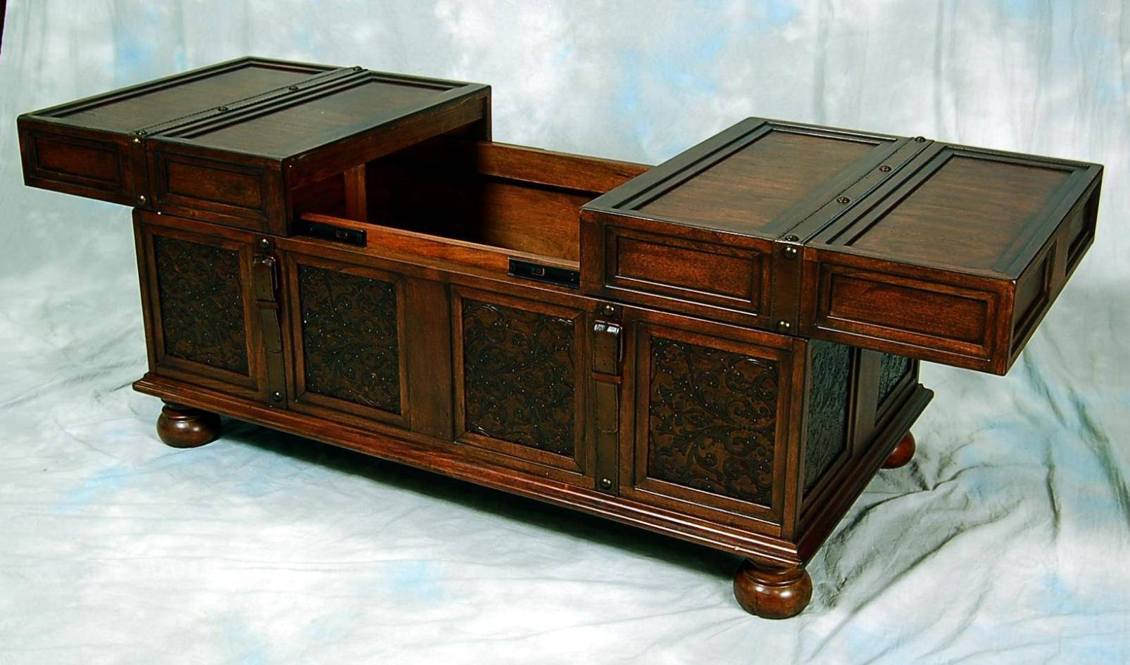 Coffee Table: Terrific Storage Chest Coffee Table Design Ideas in Old Trunks as Coffee Tables (Image 11 of 30)