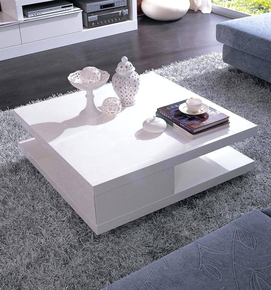 Coffee Table ~ Tosh Furniture Modern White Lacquer Coffee Table Intended For Oval Gloss Coffee Tables (View 19 of 30)