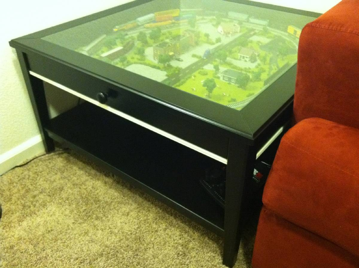 Coffee Table Train Set - Ikea Hackers - Ikea Hackers with Glass Top Display Coffee Tables With Drawers (Image 7 of 30)
