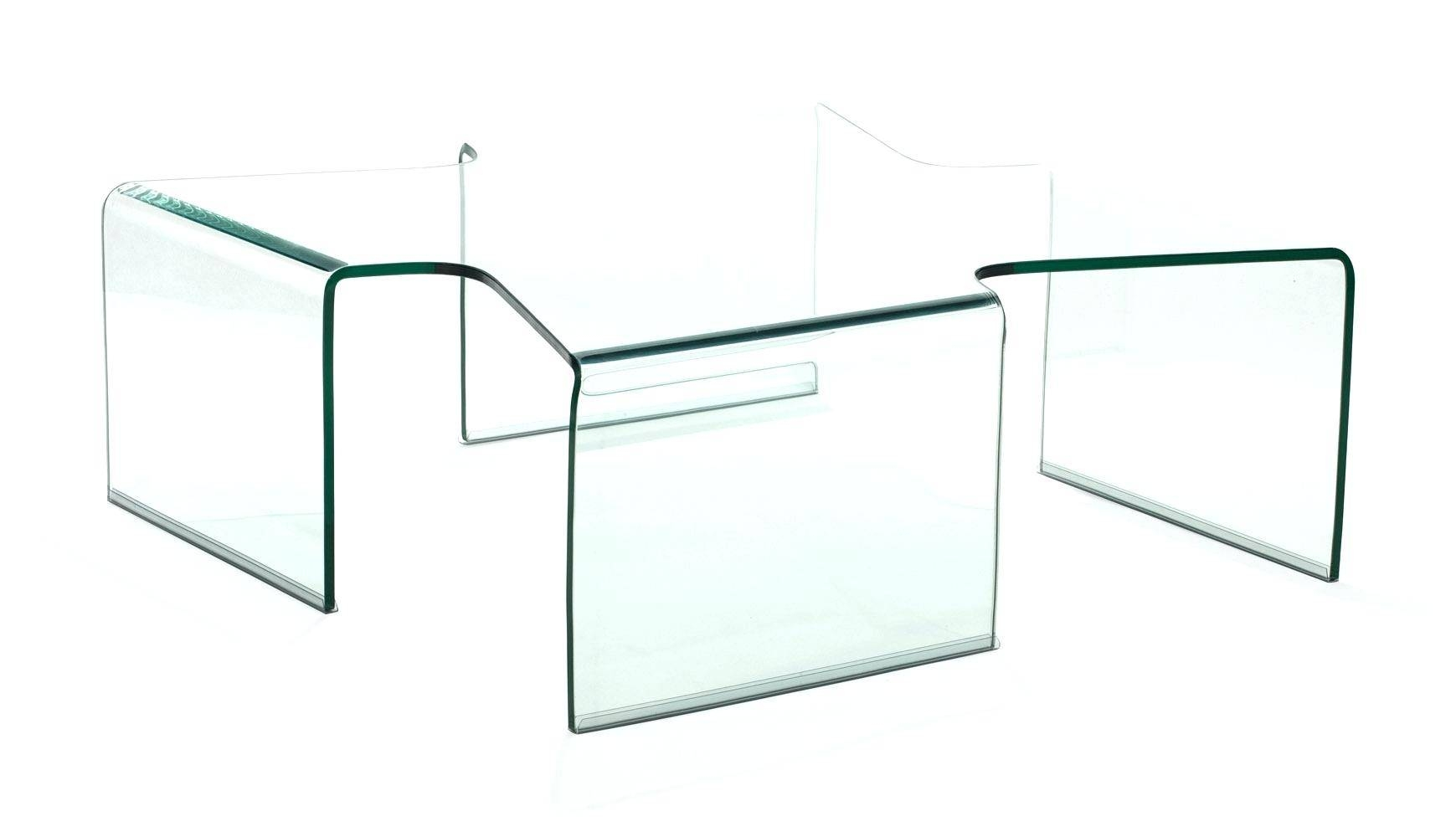 Coffee Table ~ Unique And Creative All Glass Coffee Table Within Transparent Glass Coffee Tables (Image 8 of 30)