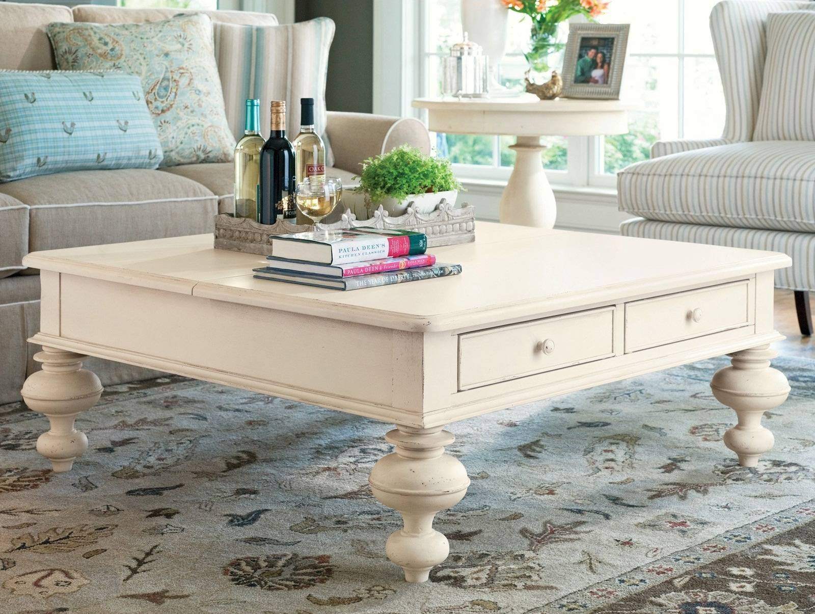 Coffee Table: Unique Coffee Table Plans Modern Farmhouse Coffee Pertaining To Cream Coffee Tables With Drawers (View 6 of 25)