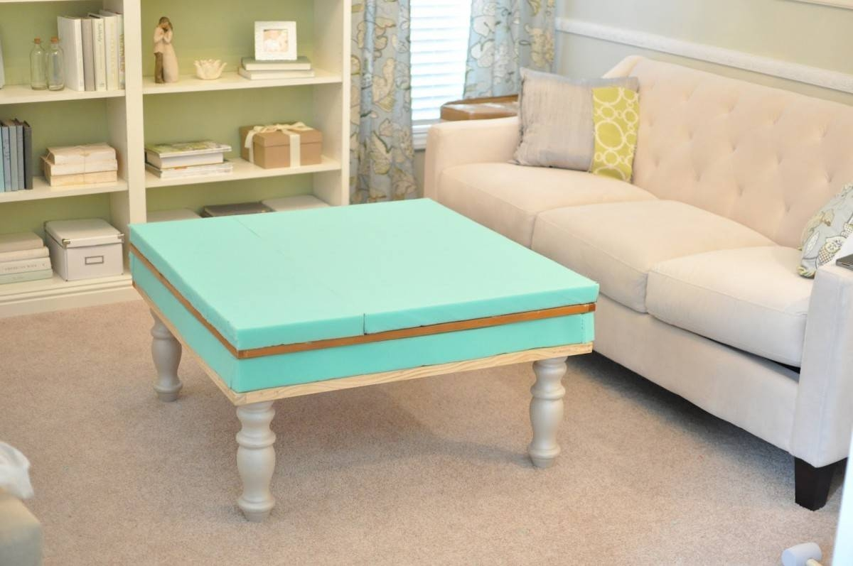 Coffee Table: Unique Diy Ottoman Coffee Table Ideas Diy Tufted within Green Ottoman Coffee Tables (Image 6 of 30)