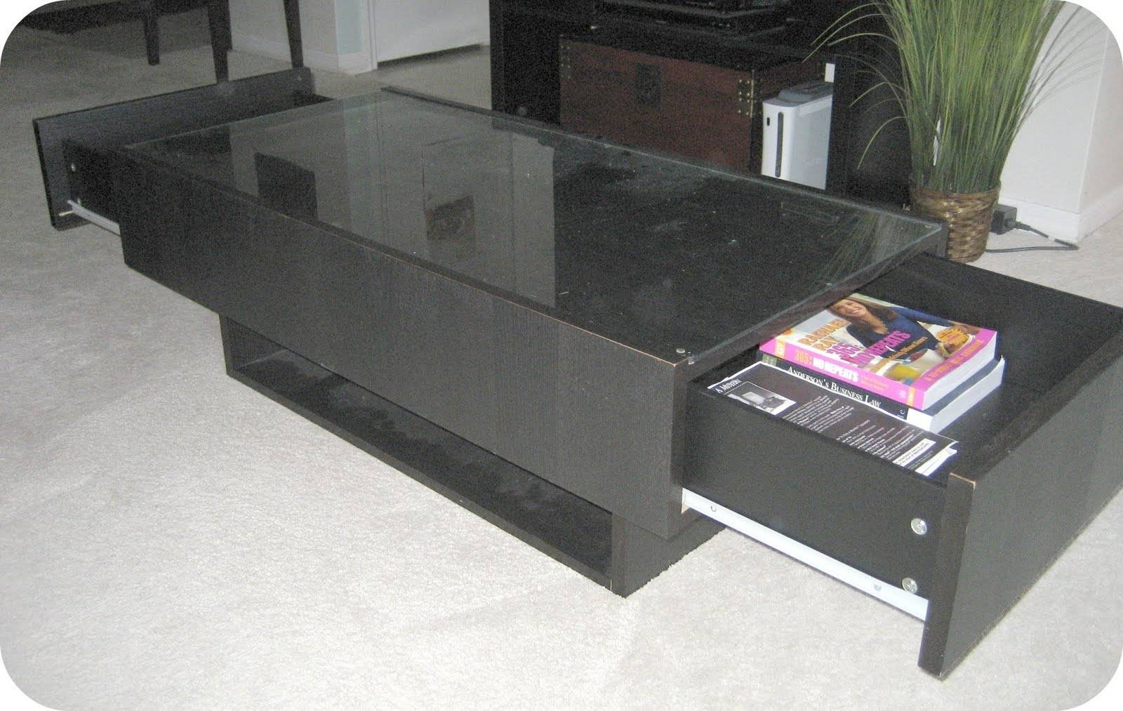Coffee Table: Unique Storage Coffee Table Ikea Ideas Ikea Cocktail intended for Glass Coffee Tables With Storage (Image 18 of 30)