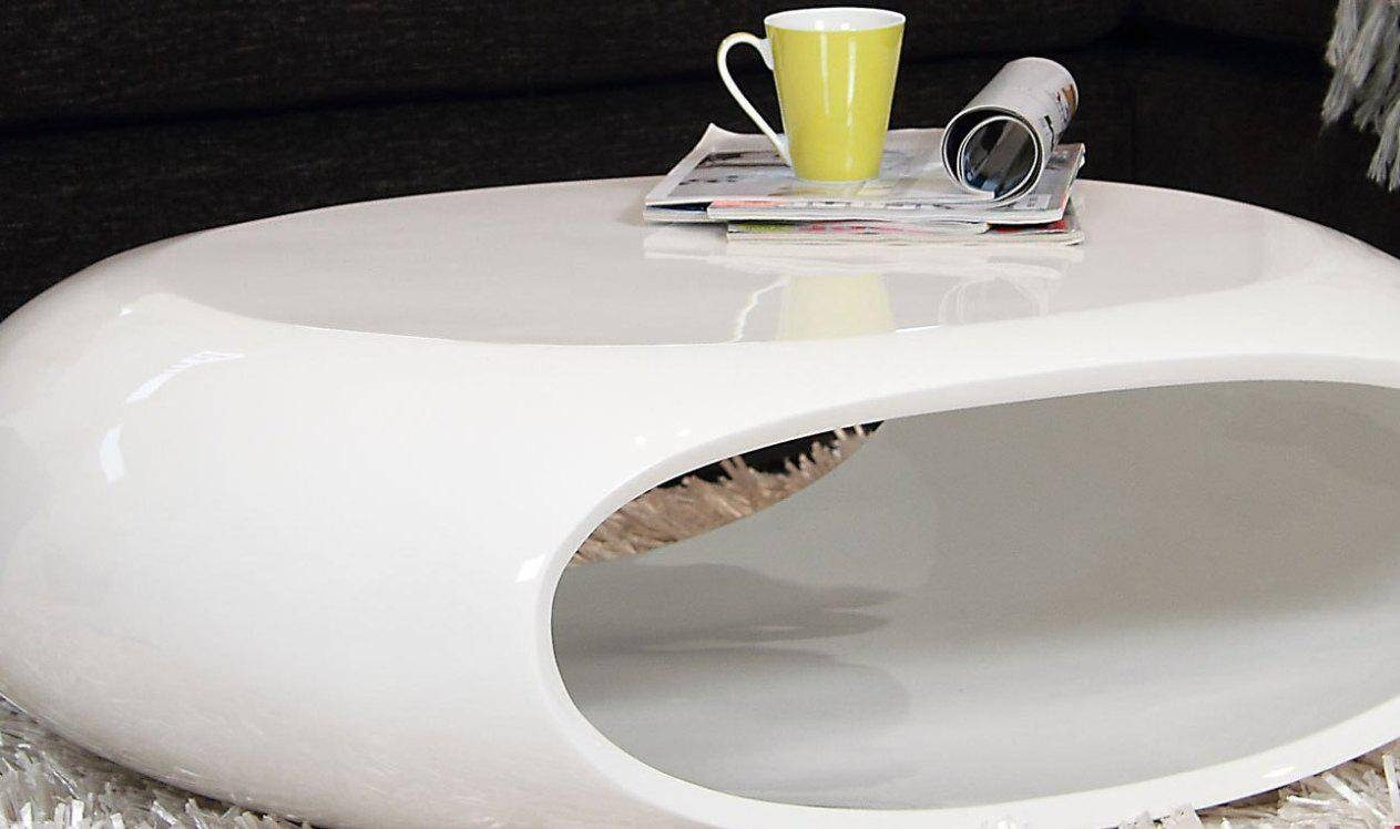 Coffee Table: Unique White Lacquer Coffee Table Design Ideas regarding White Oval Coffee Tables (Image 6 of 30)