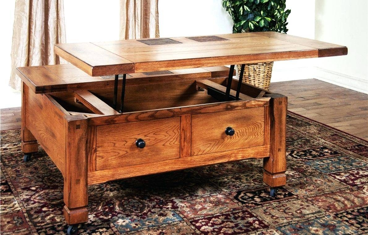 Coffee Table ~ Unthinkable Wood Coffee Tables With Storage regarding Oak Square Coffee Tables (Image 2 of 30)