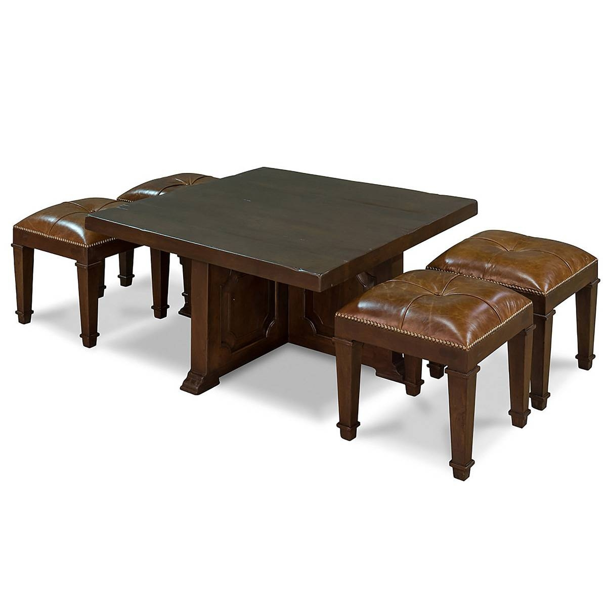 Coffee Table With 4 Nesting Stools So That 039 S Cool Within