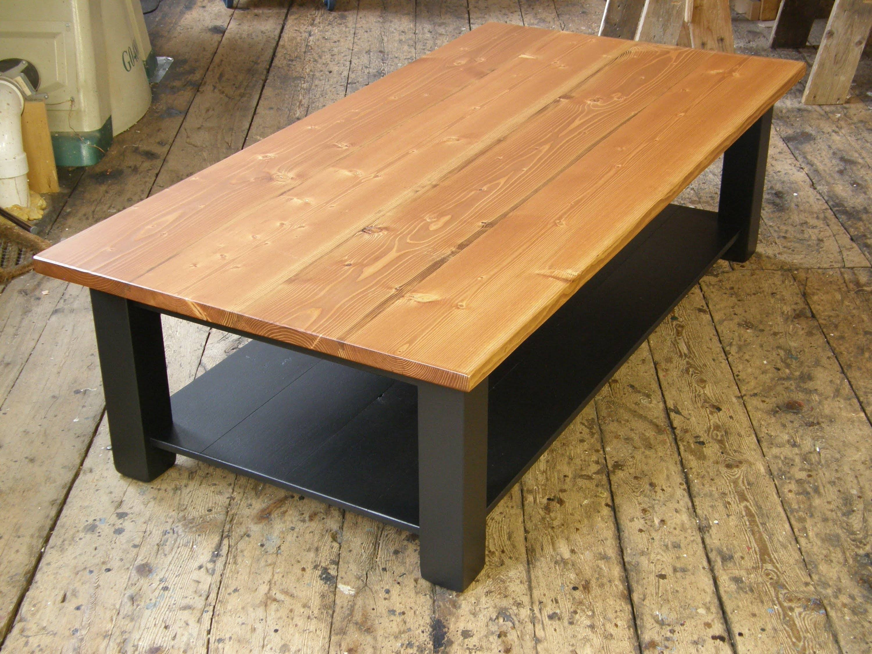 Coffee Table With A Shelf - Youtube for Rustic Coffee Tables With Bottom Shelf (Image 16 of 30)