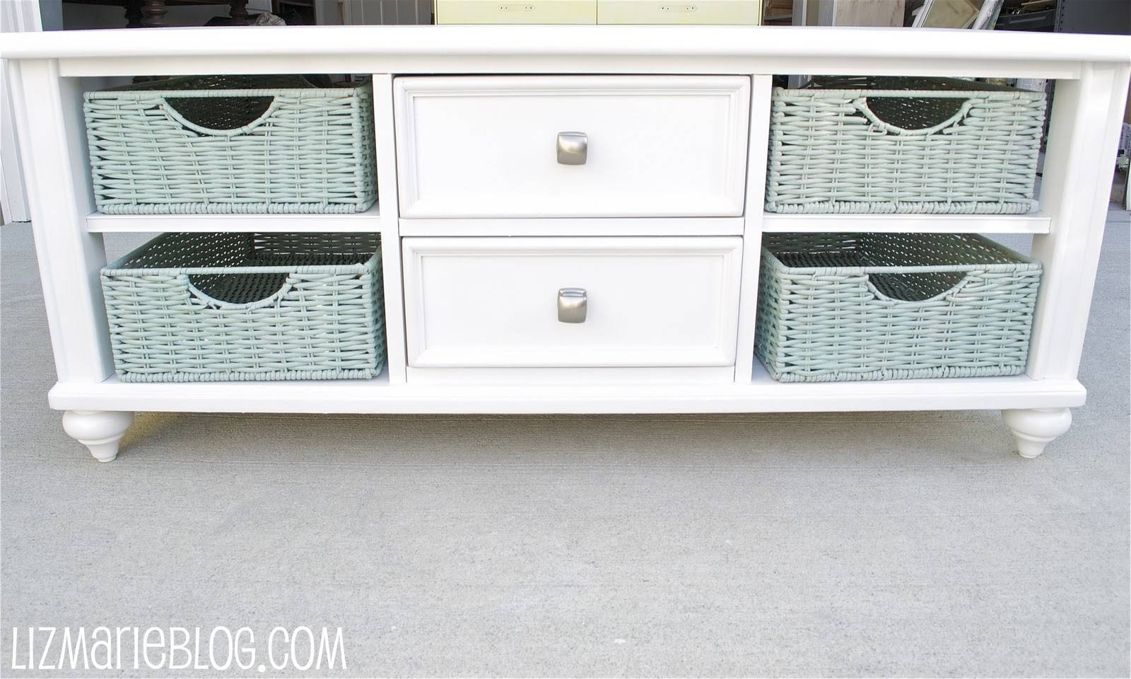 Coffee Table With Baskets / Coffee Tables / Thippo pertaining to White Coffee Tables With Baskets (Image 6 of 30)