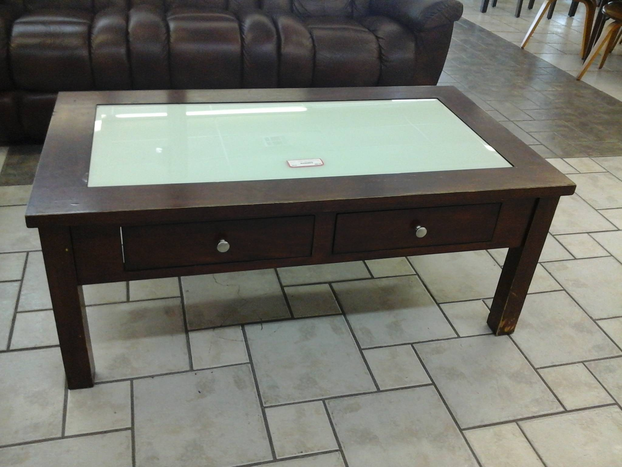 Coffee Table With Drawer And Glass Top | Coffee Tables Decoration Regarding Coffee Tables With Glass Top Display Drawer (View 15 of 30)
