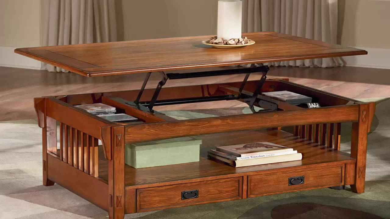 Coffee Table With Lift Up Top - Youtube in Coffee Tables With Lift Up Top (Image 9 of 30)