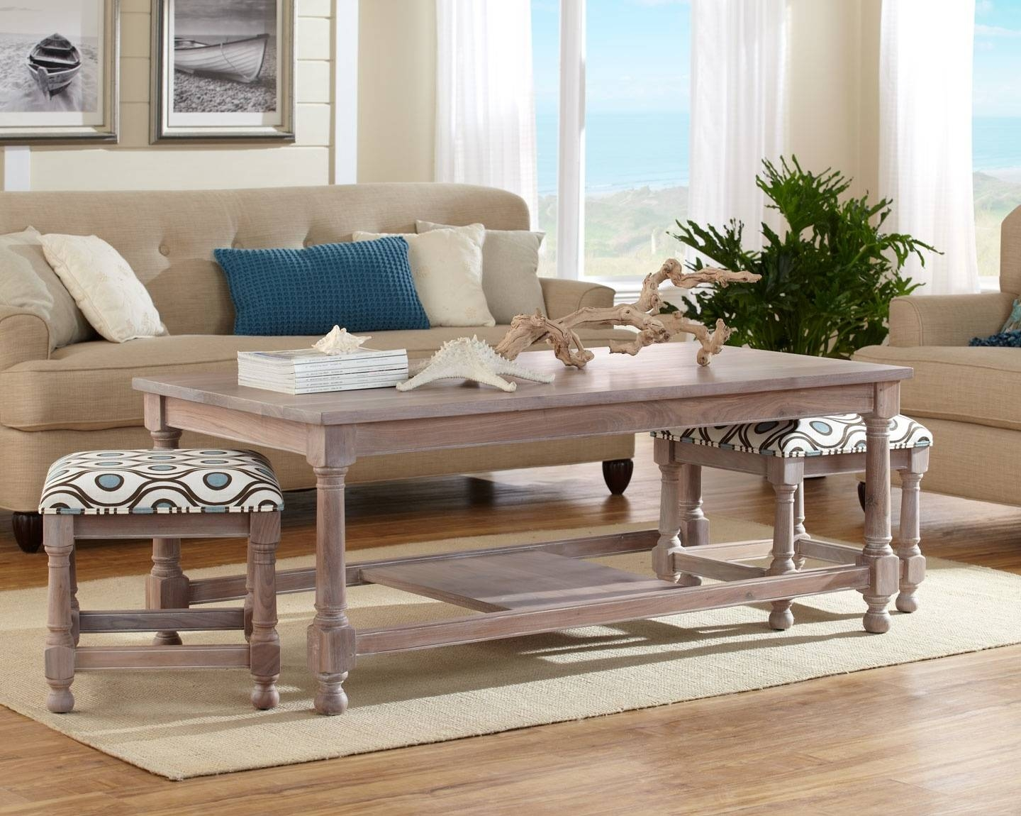 Coffee Table With Nesting Stools | Home Design Ideas With Regard To Coffee Tables With Nesting Stools (View 2 of 30)