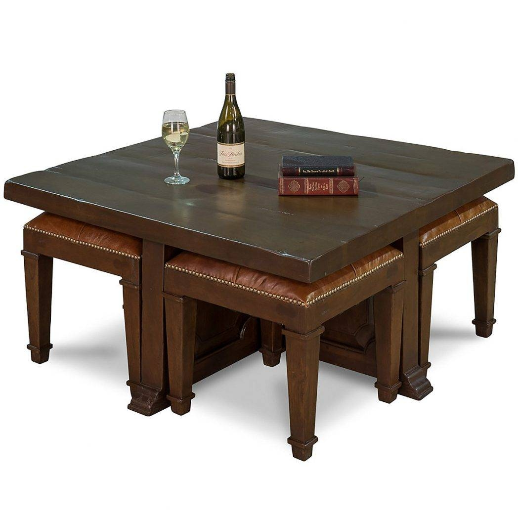 Coffee Table With Stools / Coffee Tables / Thippo For Coffee Tables With Nesting Stools (View 12 of 30)